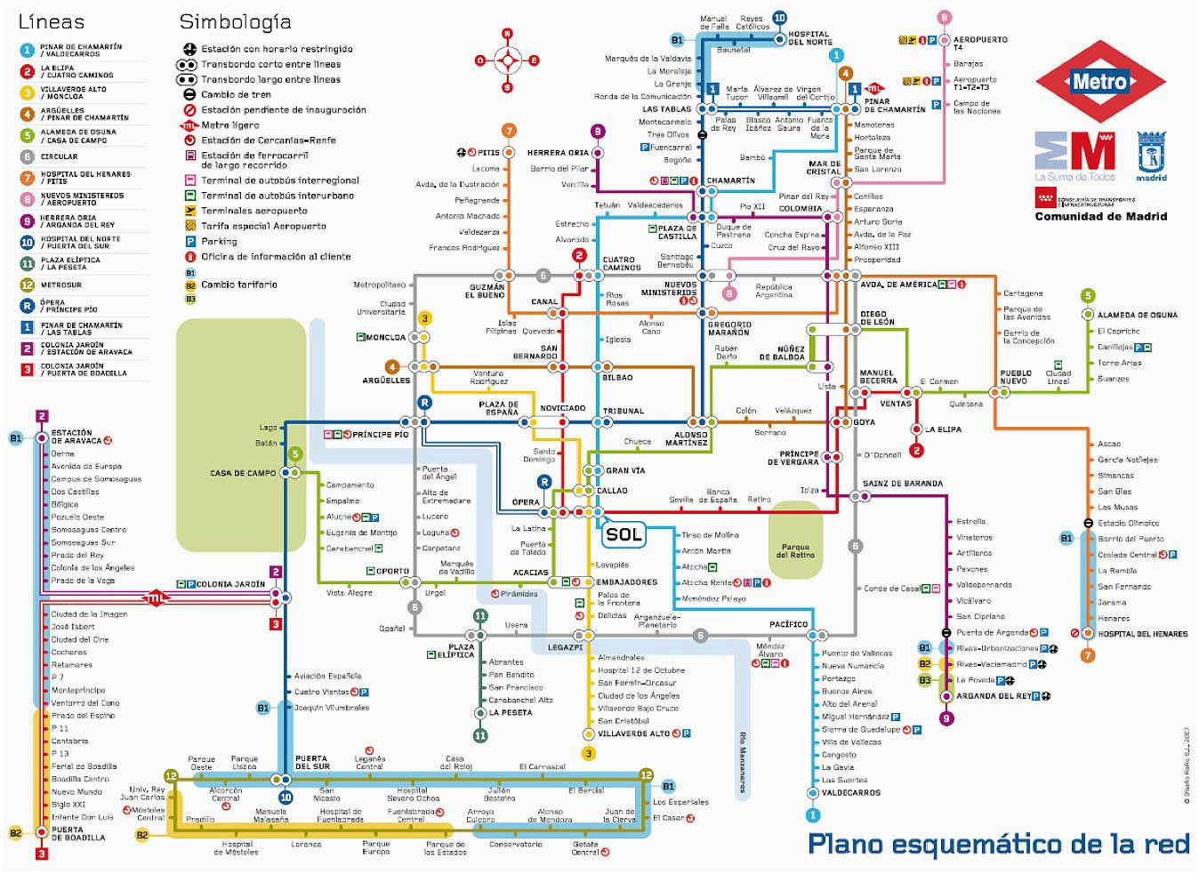 madrid metro map madrid spain mappery m a p d d d n d d d d n n n