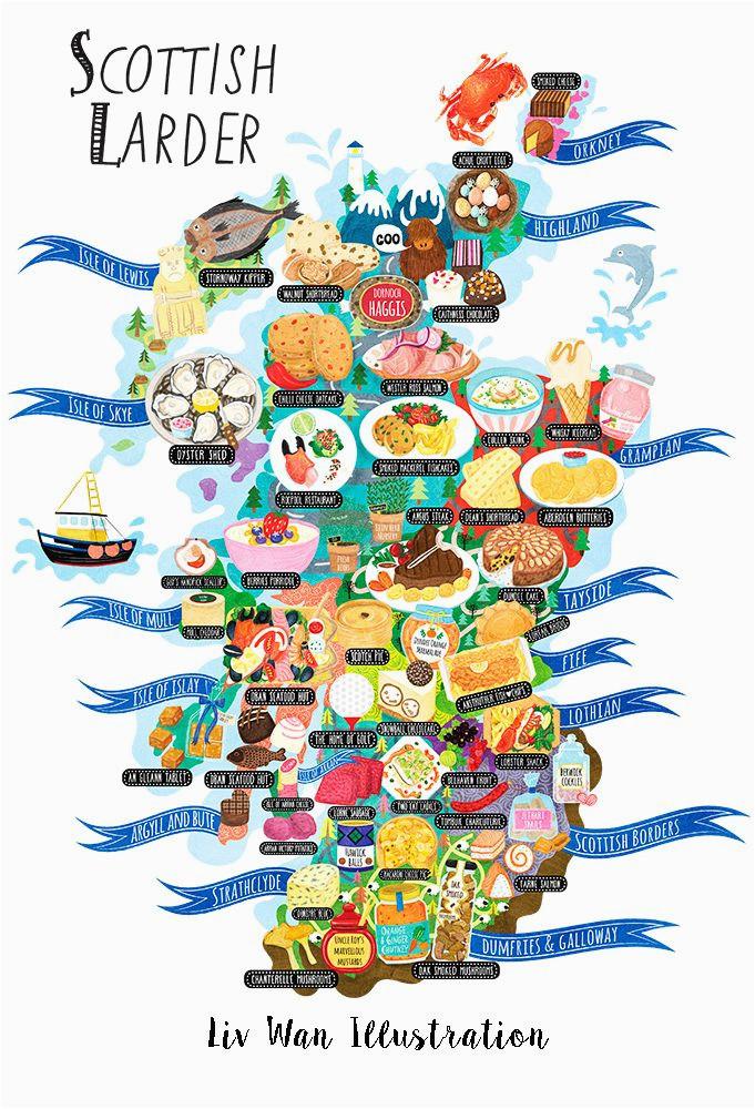 scotland food map by liv wan scottish heritage scotland food
