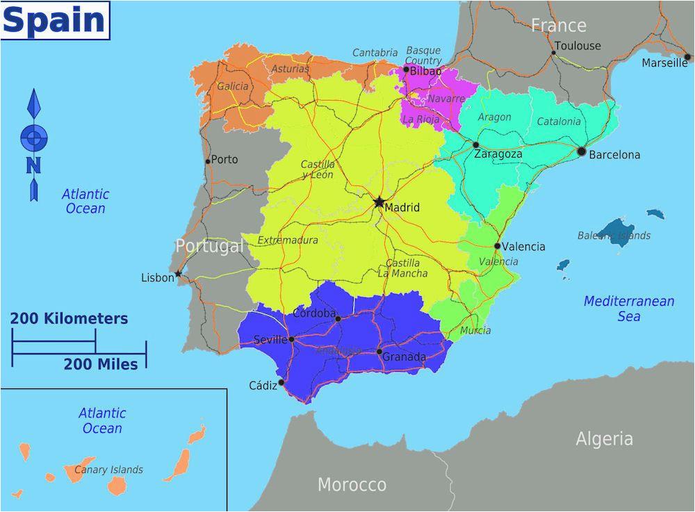 dividing spain into 5 regions a spanish life spain