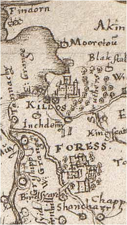 medieval map of scotland with forres one of the main settings in