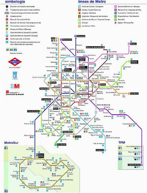 plano metro madrid 2006 my soul madrid map spanish art