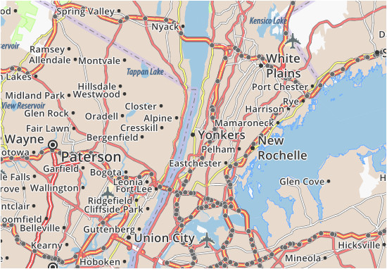 yonkers map detailed maps for the city of yonkers viamichelin