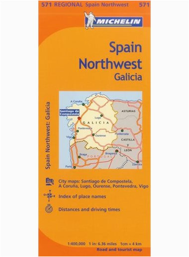 michelin spain northwest galicia espagne nord ouest galice map 571