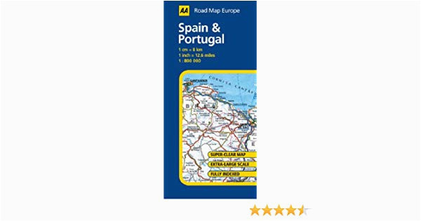 spain and portugal aa road map europe series amazon co uk aa