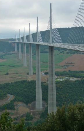 millau viaduct from view point picture of viaduc de millau