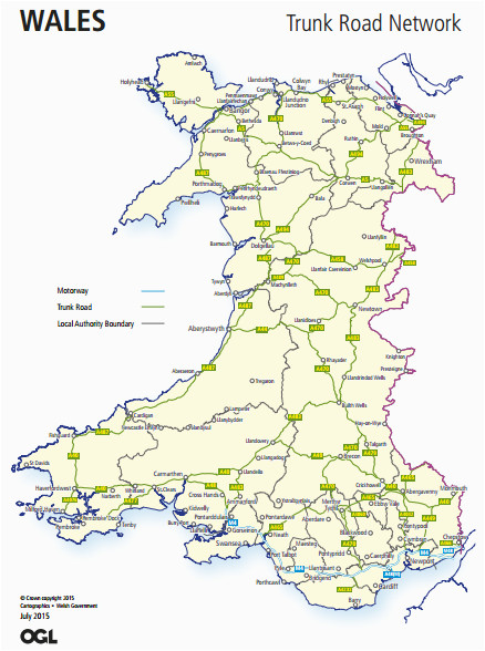 trunk roads in wales wikipedia
