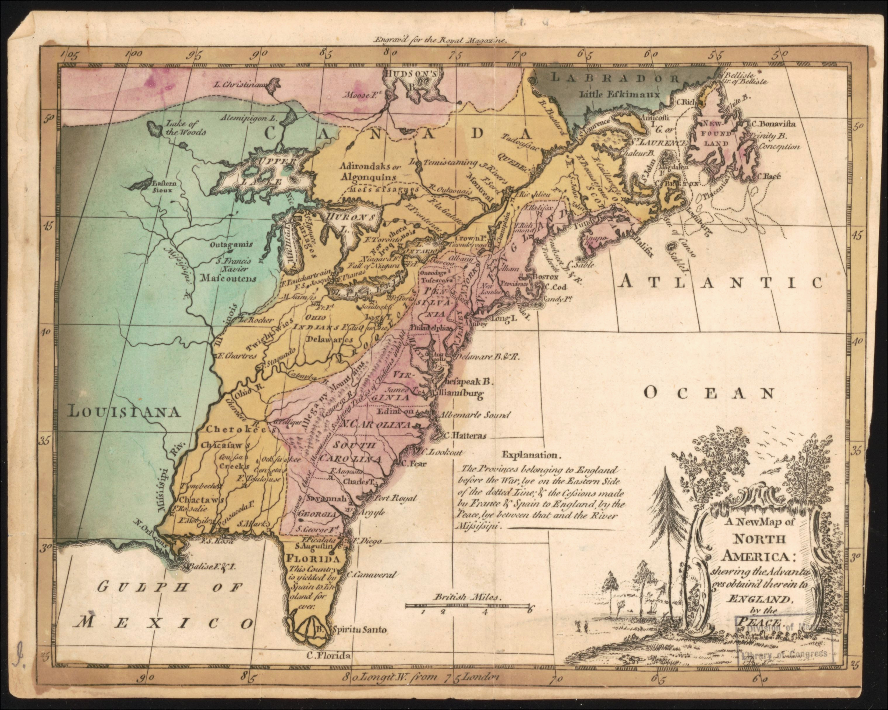 file a new map of north america shewing the advantages obtain d