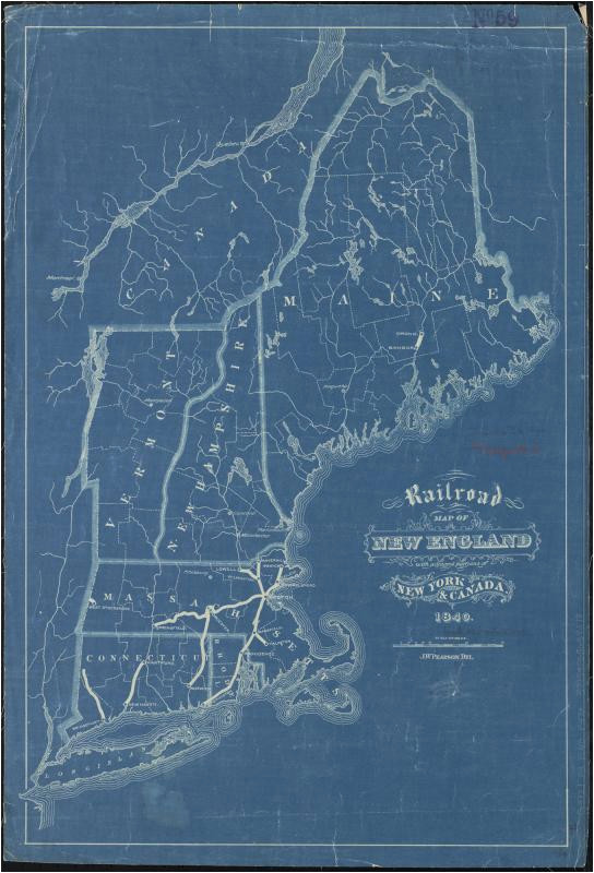 file railroad map of new england with adjacent portions of