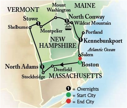 image result for new england driving tour itinerary road