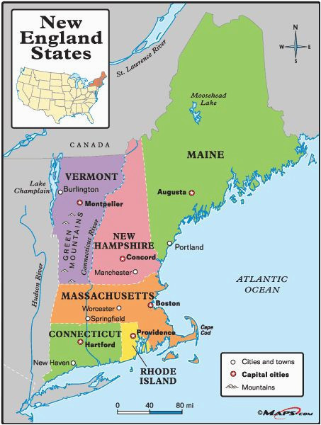 us map with cities and states 56 best new england maps