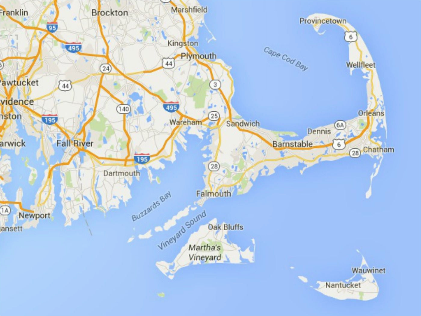 maps of cape cod martha s vineyard and nantucket