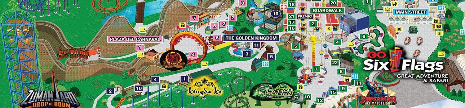 park map six flags great adventure