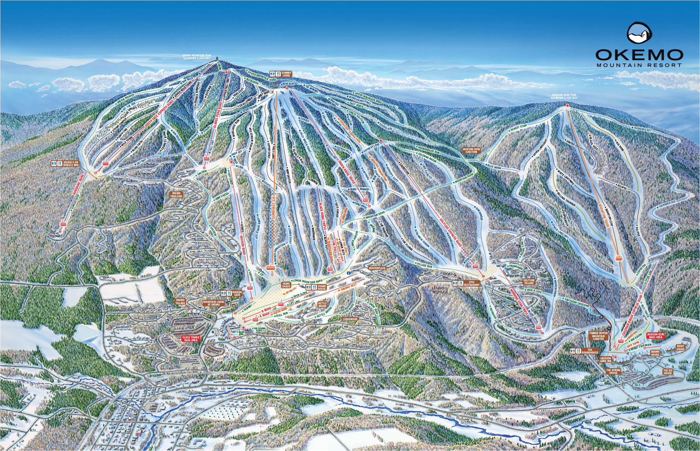 okemo mountain resort skimap org