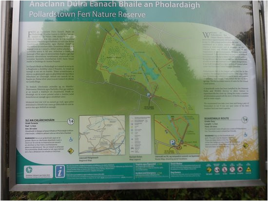 map of local areas around the fen picture of pollardstown fen