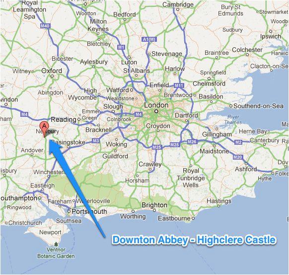 downton abbey fans tour highclere castle from london google map