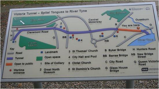 plano del tunel picture of victoria tunnel newcastle upon