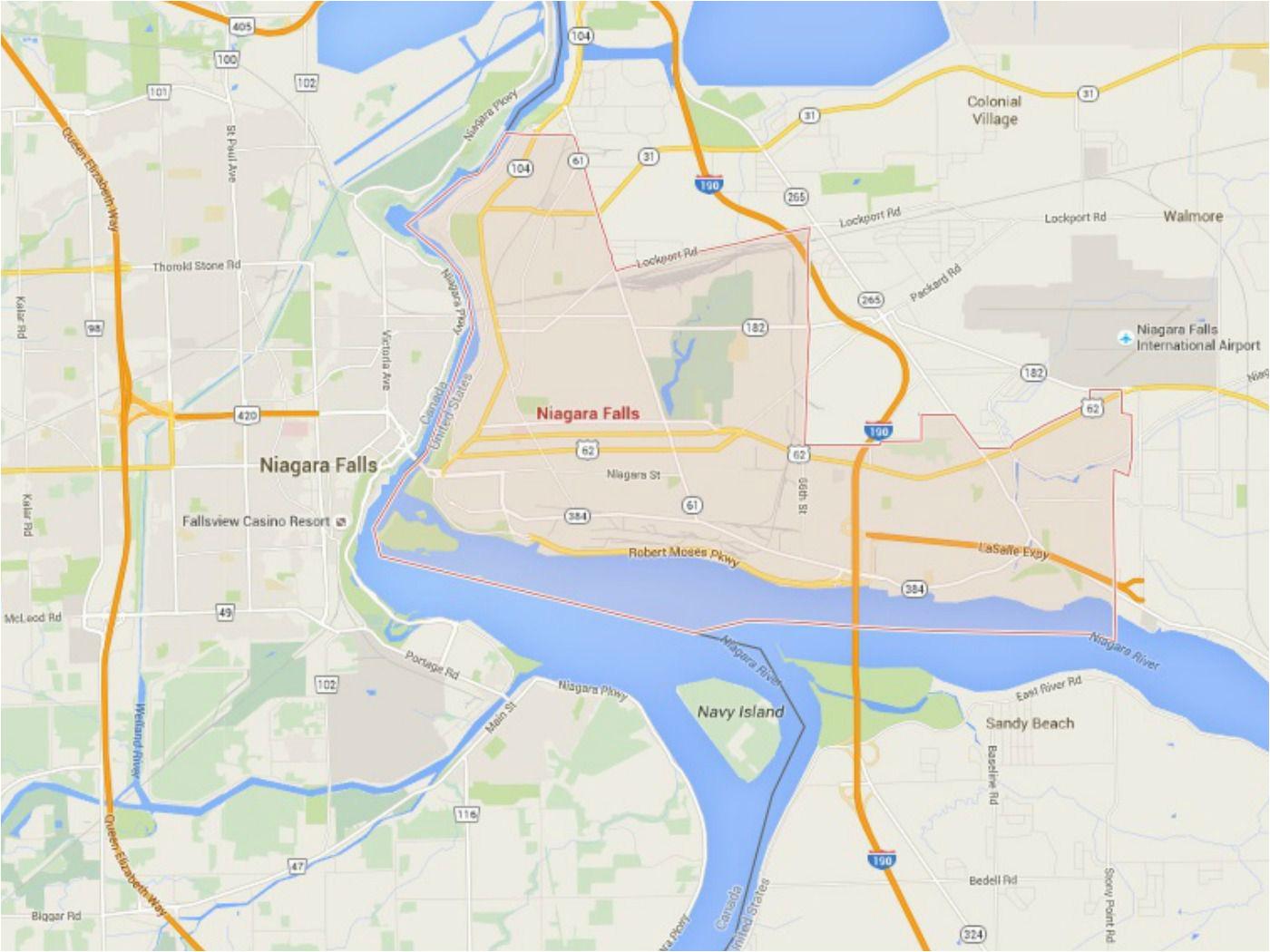 maps of new york nyc catskills niagara falls and more