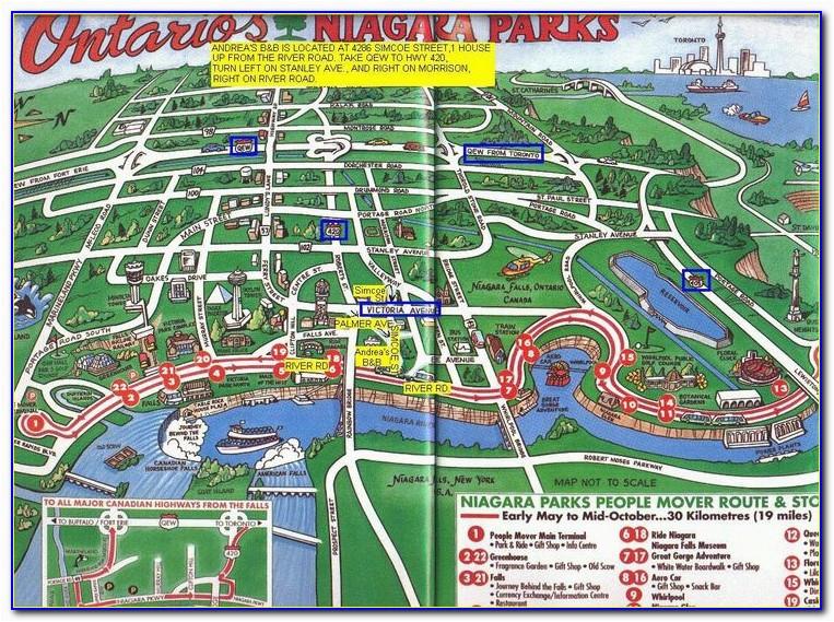 map of niagara falls ontario hotels maps resume examples
