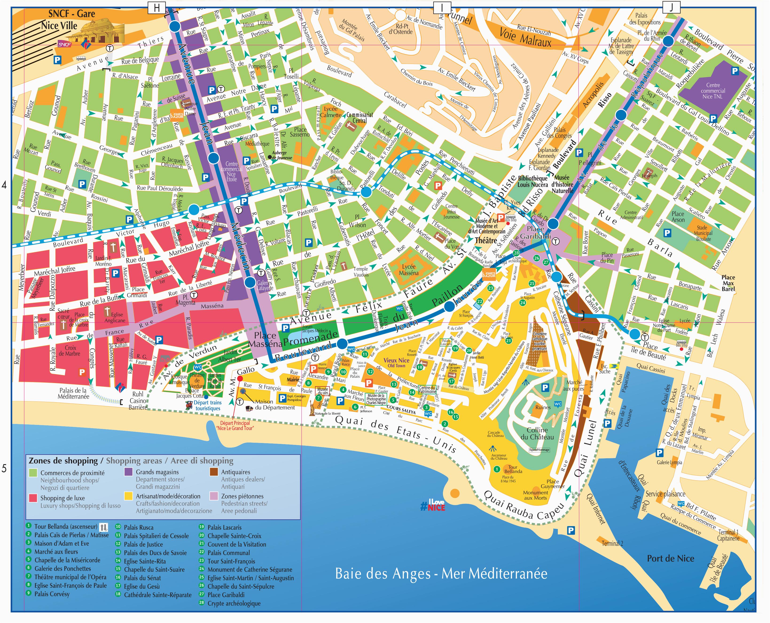maps and brochures of nice ca te d azur