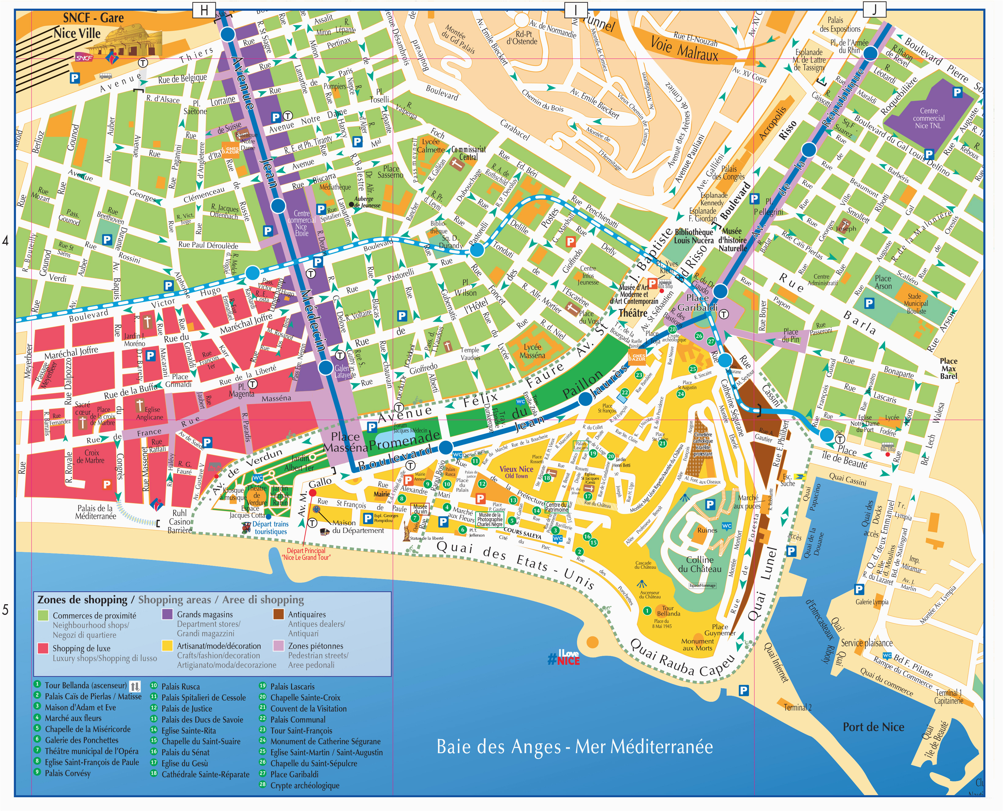 maps and brochures of nice ca te d azur