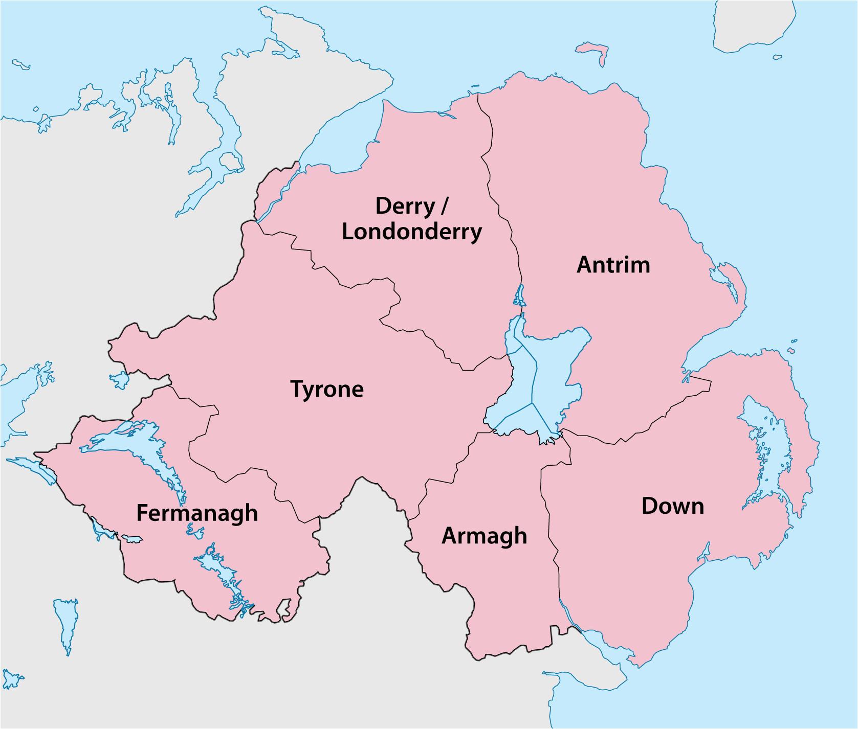 counties of northern ireland wikipedia