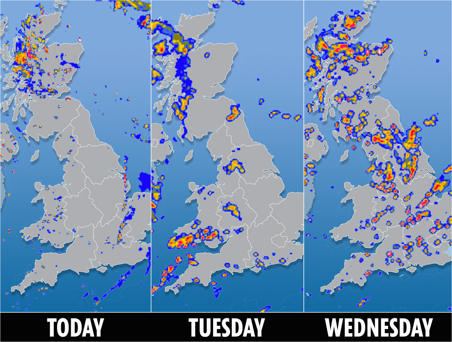 uk weather forecast met office warns three days of severe