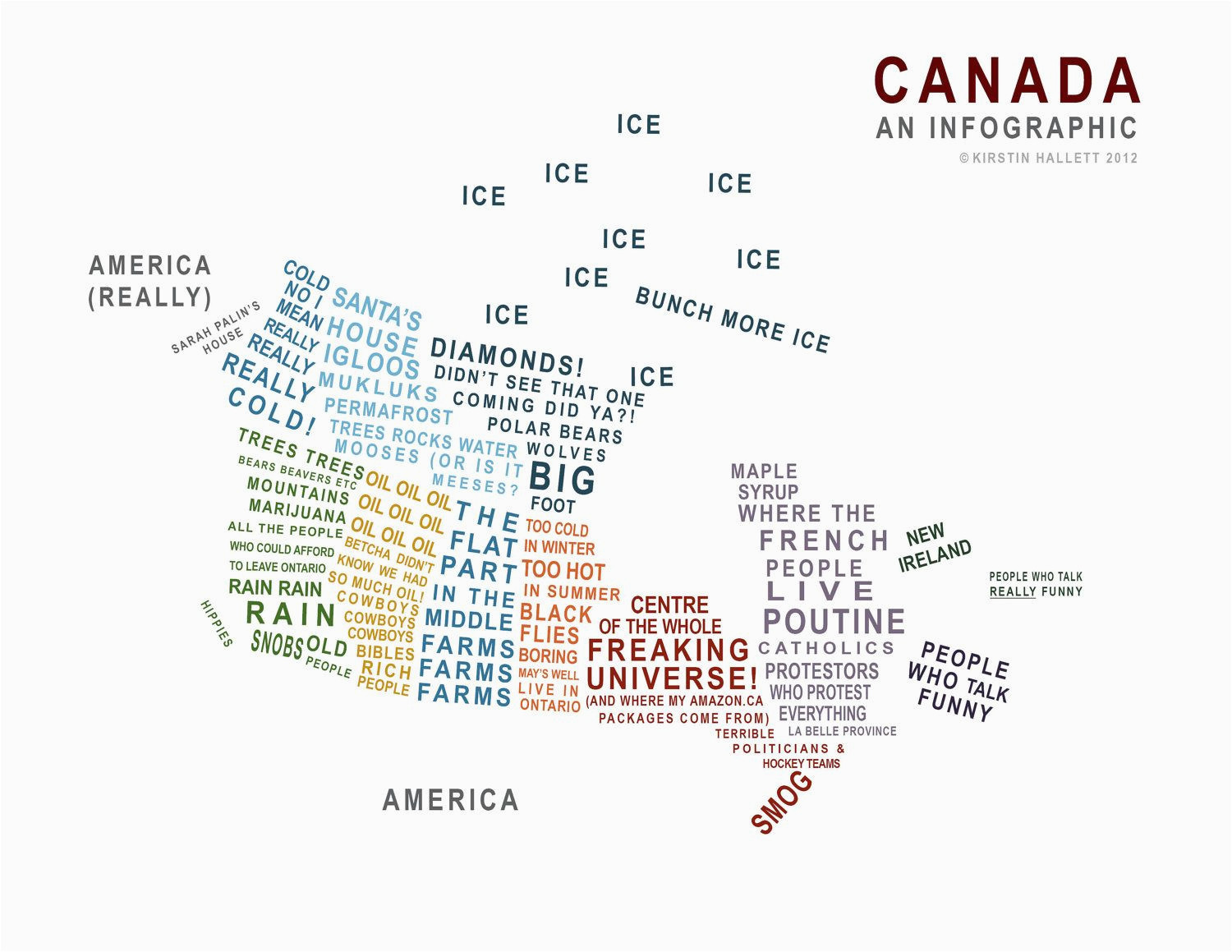 canada a map in words just because canadian