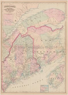 10 best maine old maps images in 2017 antique maps old maps
