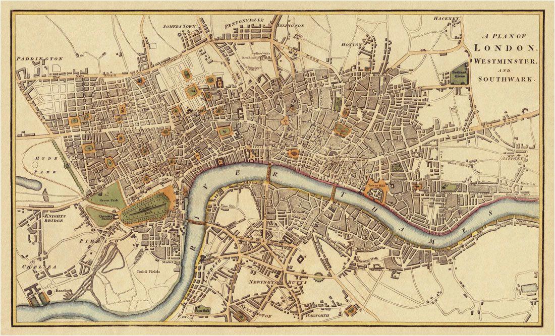 london antique map print 20 x 33 46 00 via etsy art i want