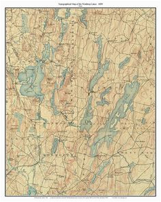 14 best maine lakes old topo maps custom reprints images in