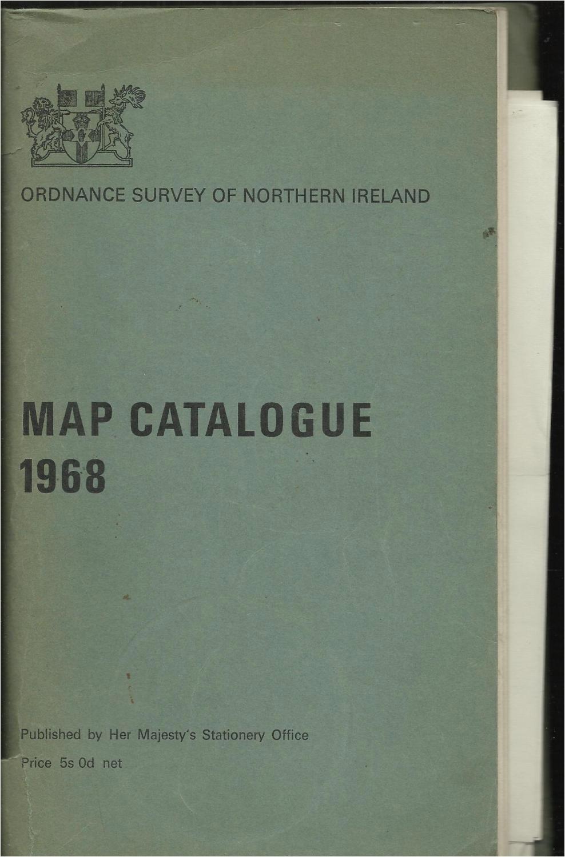 map catalogue 1968