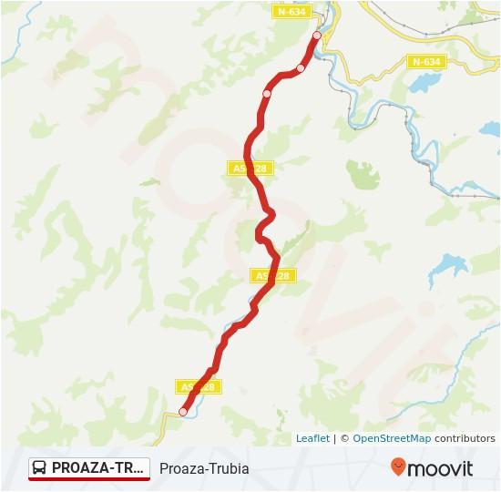 proaza trubia route time schedules stops maps trubia