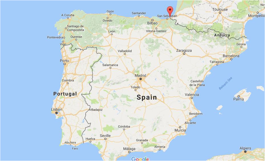 map of hondarribia spain download them and print