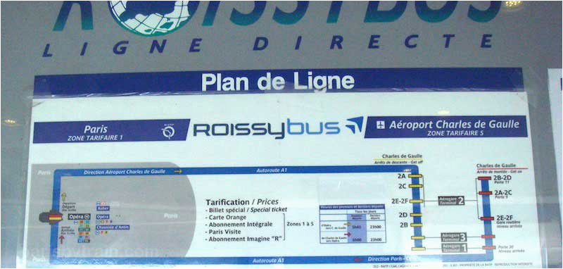 buses from cdg airport to paris paris by train