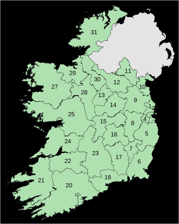verwaltungsgliederung irlands wikiwand
