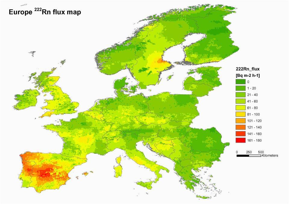 radon map europe casami