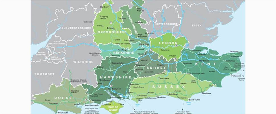 map of south east england visit south east england