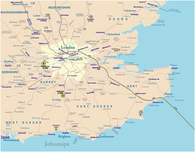 Rail Map south East England Rail Map Of southeast England Johomaps