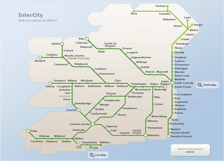 map of ireland road network download them and print