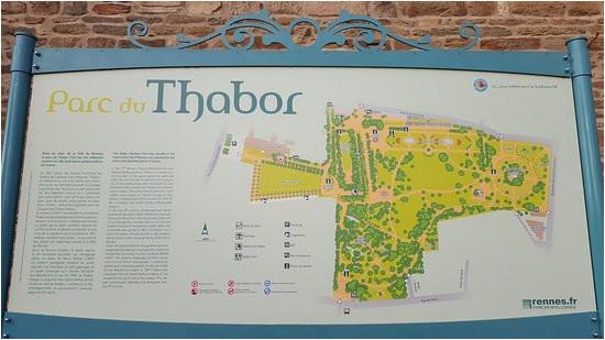 plan picture of parc du thabor rennes tripadvisor