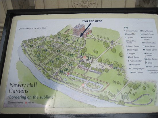 plan of newby hall picture of newby hall and gardens