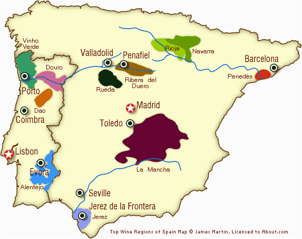 River Ebro Spain Map Spain and Portugal Wine Regions