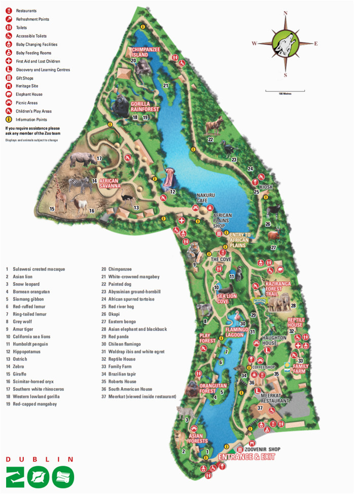map of dublin zoo places i d like to go in 2019 dublin