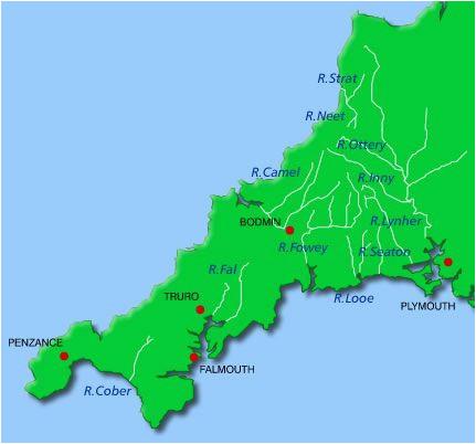 rivers cornwall map a a a n cornwall maps cornwall map