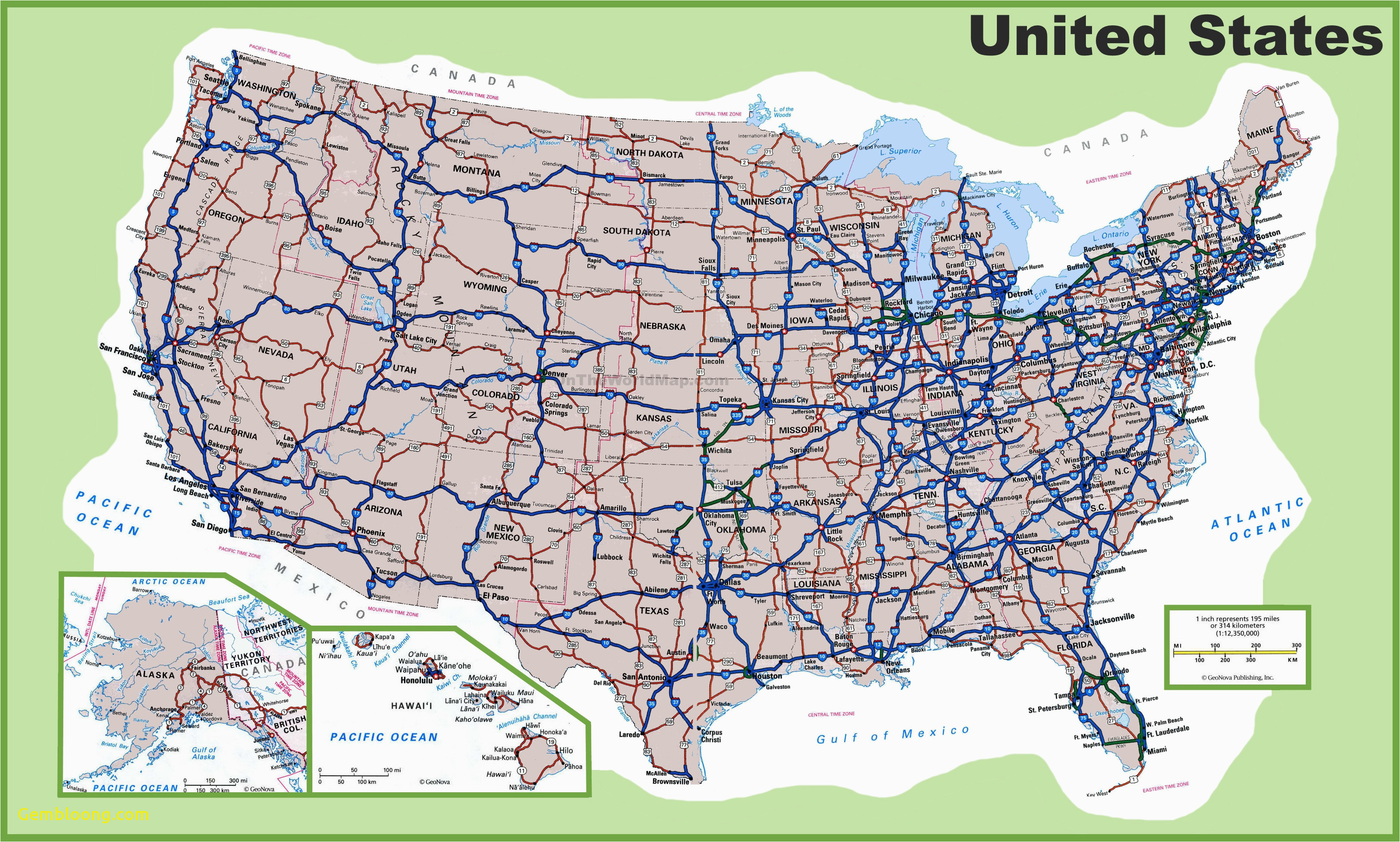 road map of usa image of usa map