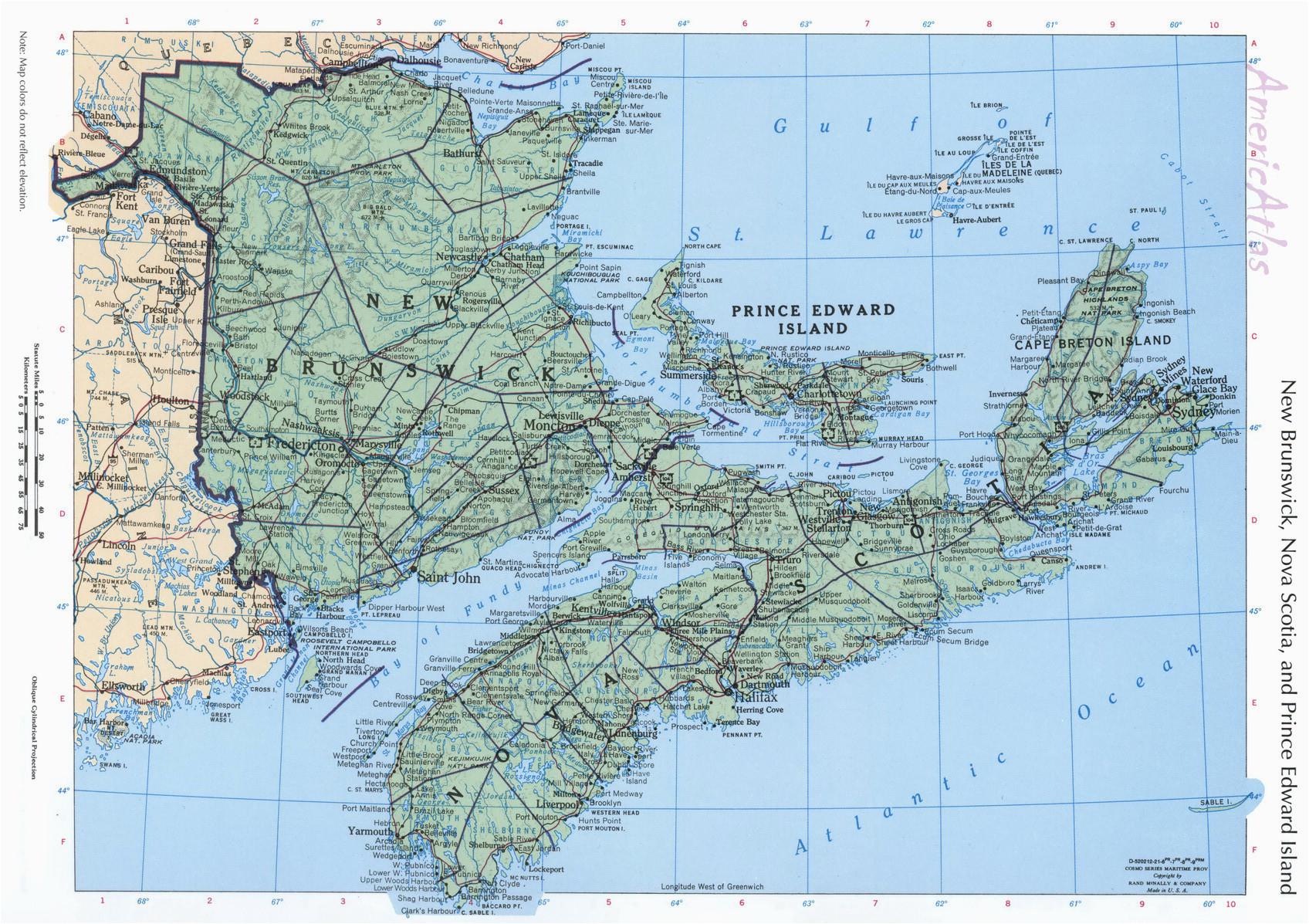 top 10 punto medio noticias map new brunswick canada geography