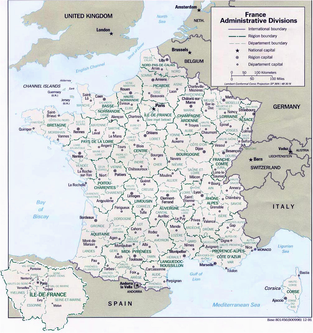 map of france departments regions cities france map