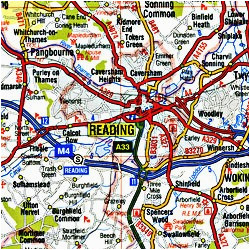 england road maps detailed travel tourist driving