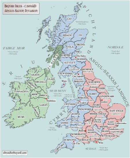 anglo saxon invasion of the british isles anglofile map