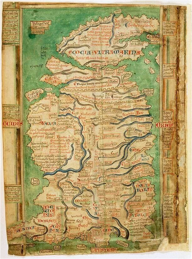 map of england and scotland circa 1250 history map of
